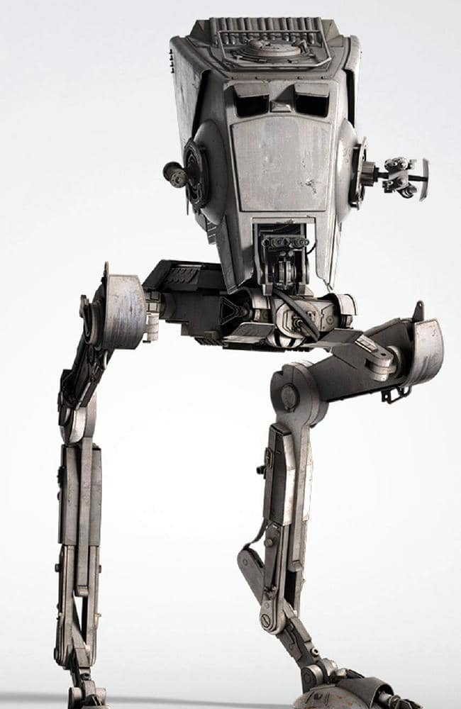 A promotional image of the Star Wars AT-ST Scout which appears in the movies Return of the Jedi, Empire Strikes Back and Solo.