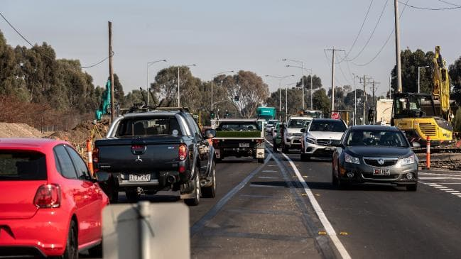 Craigieburn Road is facing severe congestion because of population growth in the area.