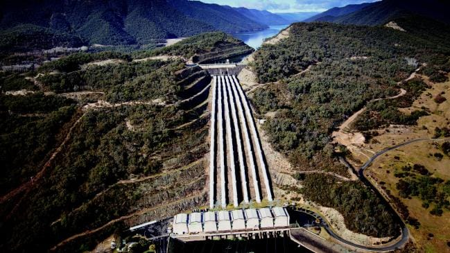 The Tumut 3 power station at the Snowy Hydro Scheme in Talbingo, in the Snowy Mountains. Picture: James Lauritz/AFP/Snowy Hydro Ltd