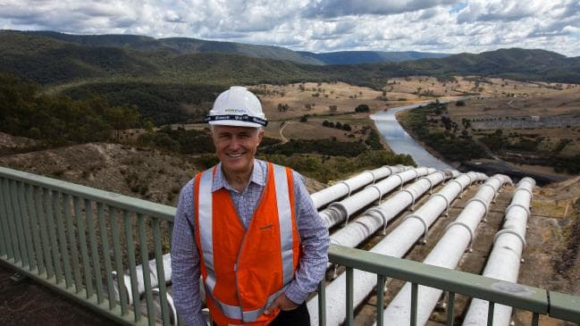 Former prime minister Malcolm Turnbull visiting the Tumut 3 power station. Picture: Sahlan Hayes/ AFP/Official Photographer to Prime Minister Malcolm Turnbull